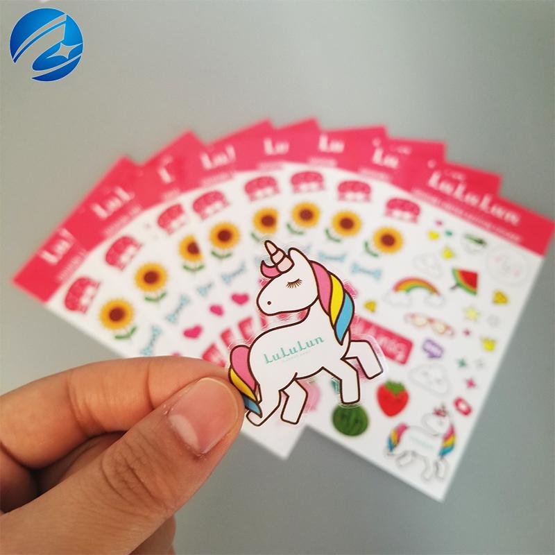 Personalizzato Stampato Rotolo di Colore del Commercio All'ingrosso A4 Formato Rotondo Adesivi Etichetta di Carta di Supporto
