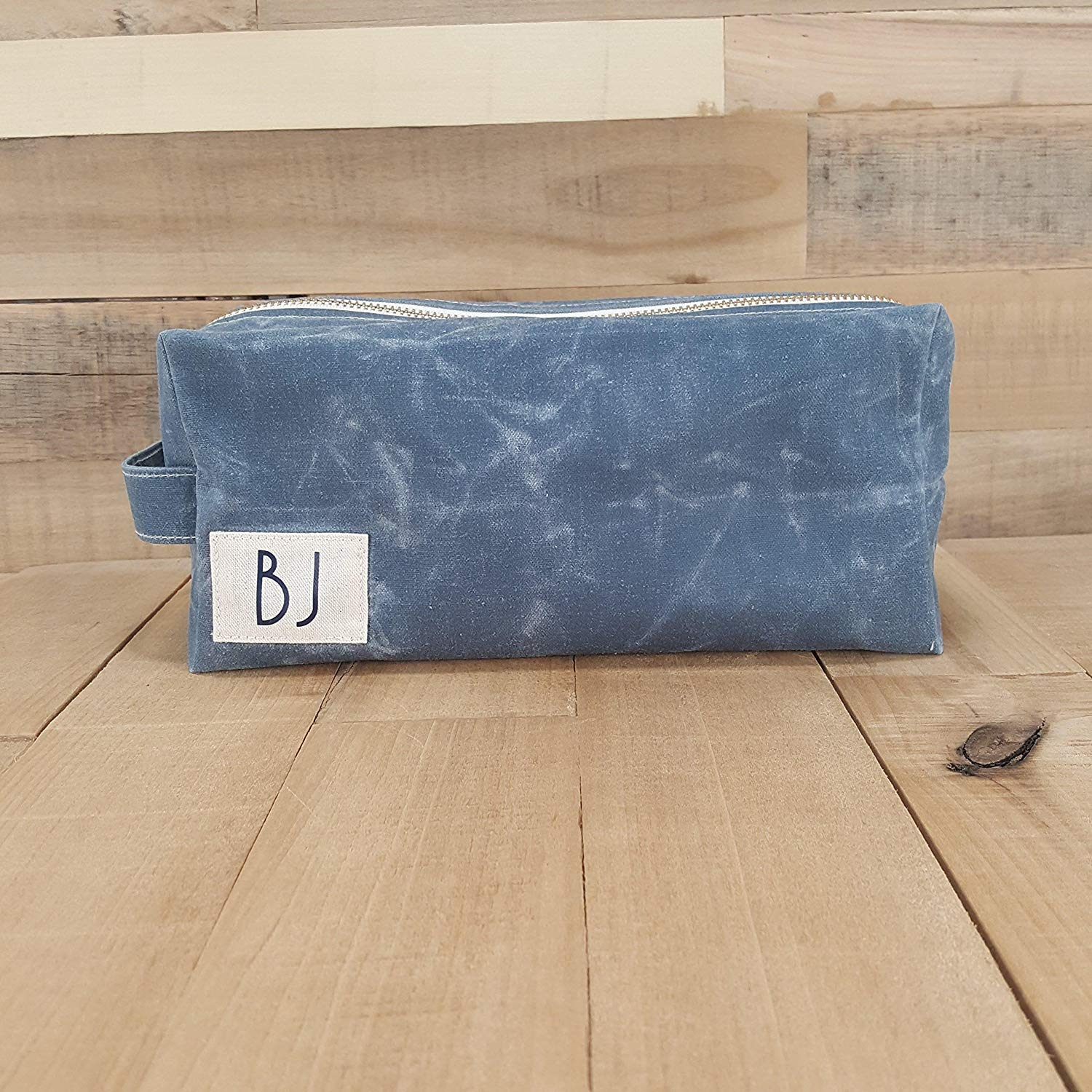 Personalized Dopp Kit for Men | Waxed Canvas Toiletry Bag | Dopp Kit | Mens Toiletry Bag | Waxed Canvas Dopp Kit | Gift for Dad | Boyfriend Gifts