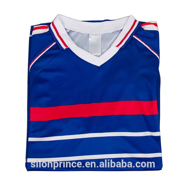 China factory manufacturer custom 100% Polyester breathable soccer jersey Soccer Wear