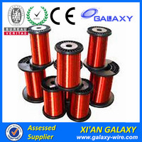 Ecca Winding Wire For Welding Machine Magnet Wire 30 Gauge AWG Enameled Copper 785 Feet Coil Winding 4oz 155C Red
