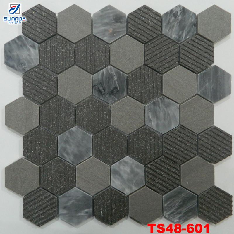 2016 neue stil sunny mosaik fliesen hexagon sieht mosaik fliesen rutschfeste badezimmer - Fliesen hexagon ...