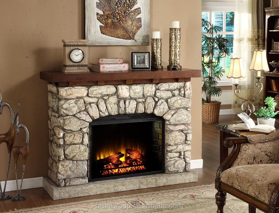 Bisini Faux Stone Electric Fireplace Polystone Electric Fireplaces Decorative Electric Fireplace