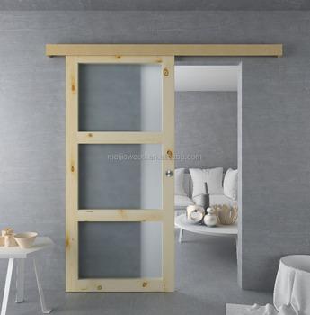 Superieur 3 Panel Sliding Glass Door With Unfinished Mdf Aluminum Barn Door Hardware    Buy 3 Panel Sliding Glass Door,Barn Door Hardware,Penal Door Product On  ...