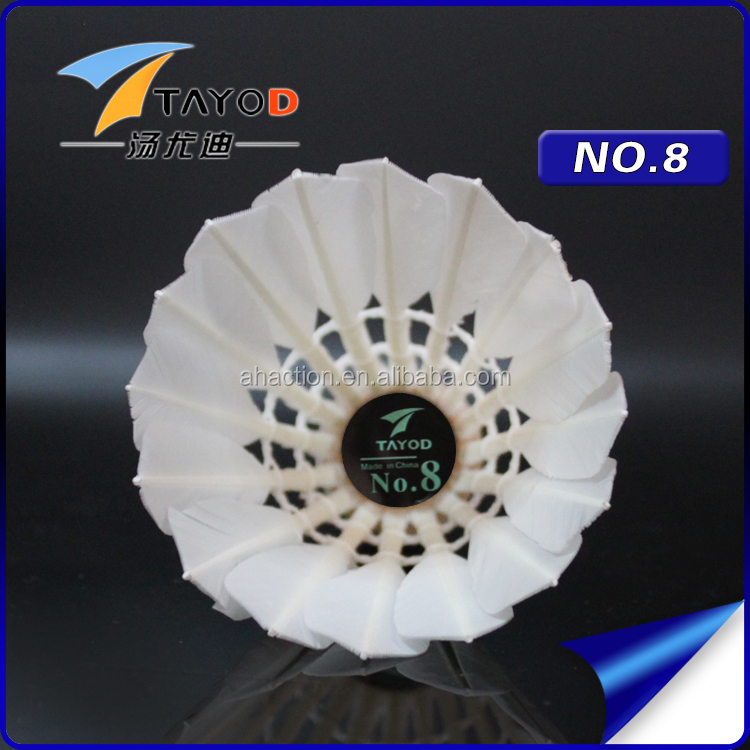 N8 Hot Sales Duck Feather Cheap Aeroplane Badminton Shuttlecock
