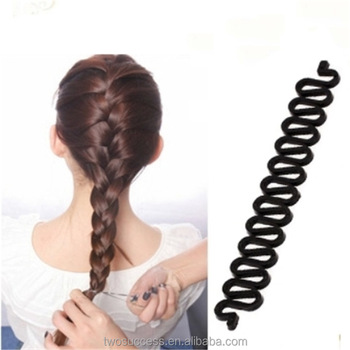 Whole Oem French Weave Hair Braiding Tool Roller Braider With Magic Twist Styling Bun Maker
