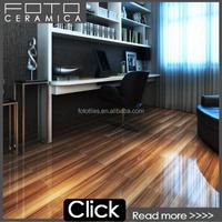 Solid wood color design polished porcelain floor tiles