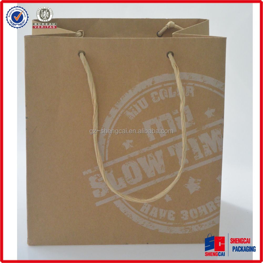 Recyclable,washable paper bag Feature and Paper,kraft paper bag Material paper carrier bag