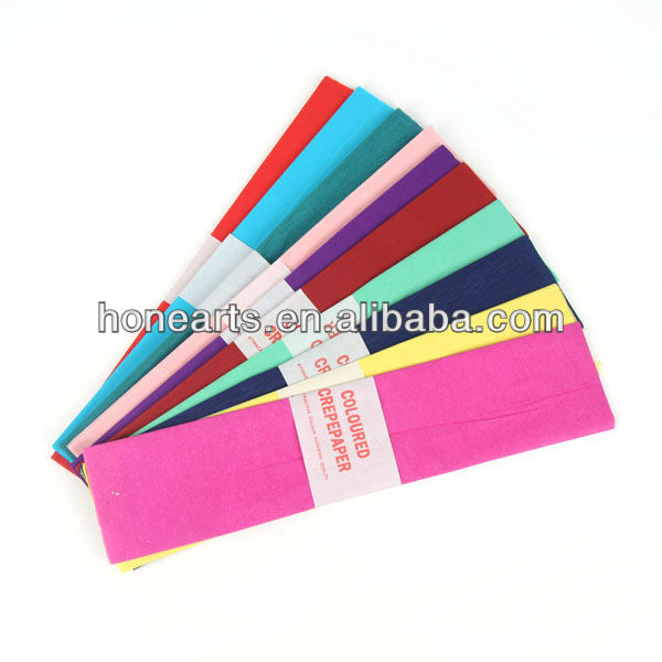 Flower packaging paper/consumable kids craft colorful crepe paper