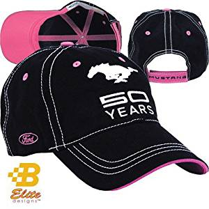 7432f5355af91 Get Quotations · Ladies Ford Mustang 50 Years Black   Pink Hat