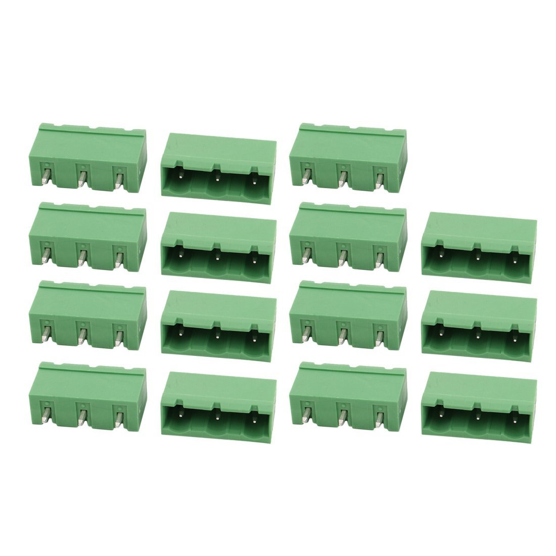 uxcell 15Pcs LZ1V 7.62mm/0.3inch Pitch 3P PCB Terminal Block Wire Connection