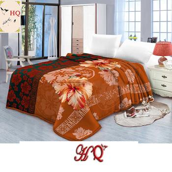 Flowered Soft Fuzzy Flannel Blanket Warm Sherpa Backing Bed Sheet