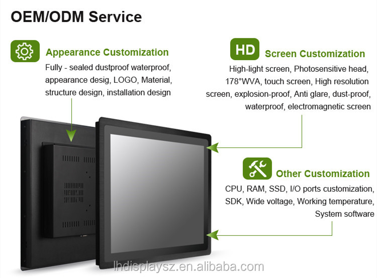 15 inch interactive touch screen embedded Android industrial panel pc with RFID/NFC for smart building/city