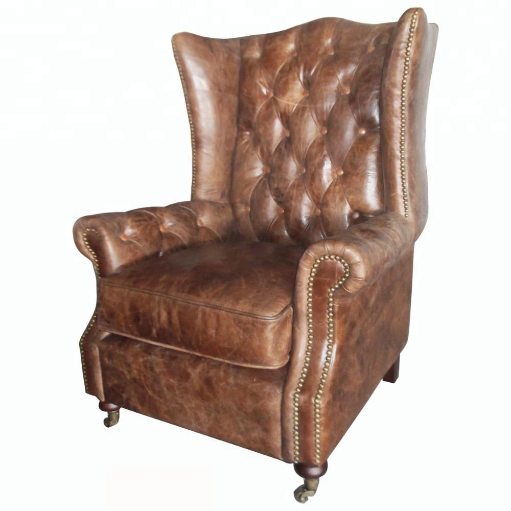 Brown Leather Chesterfield Armchairs For Sale - Buy ...