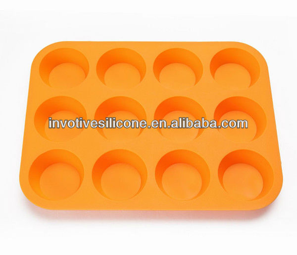 London Olympic Game Supplier LFGB Standard 12 Cups Silicone Cupcake Cake Pans