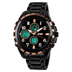 Skmei original factory latest product metal case analog sports digital wrist watches men skmei 1021