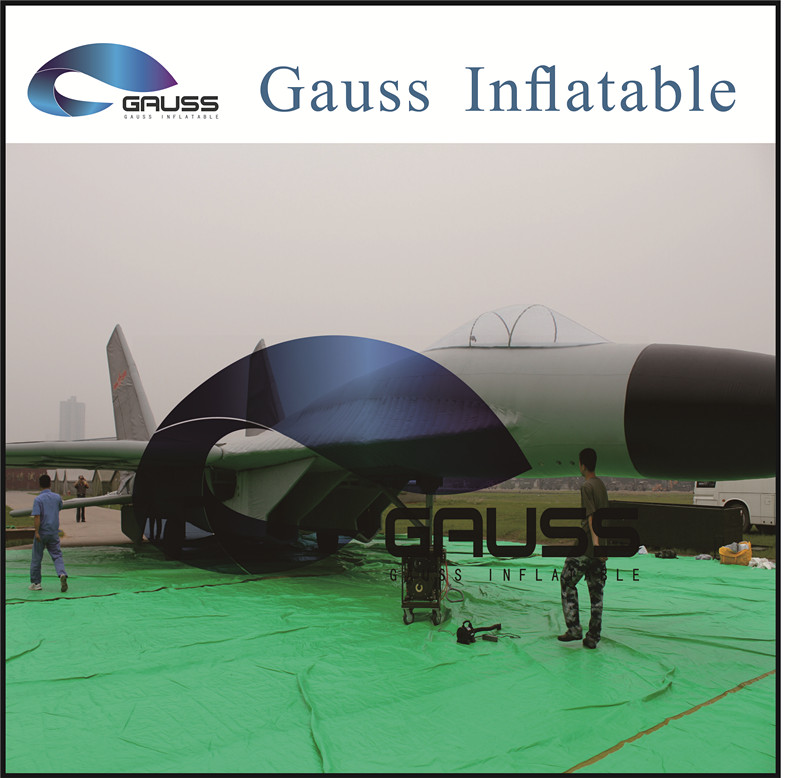 china produce inflatable palne/military army plane