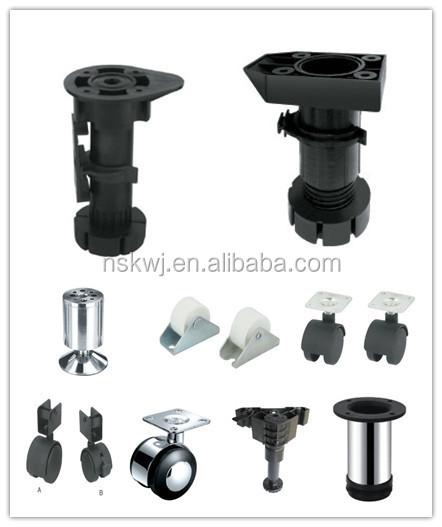 Kitchen cabinet plastic leg base cabinet adjustable legs for Black kitchen carcasses