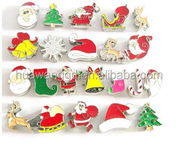 Customized 8mm christmas REINDEER slide charm for jewelry making