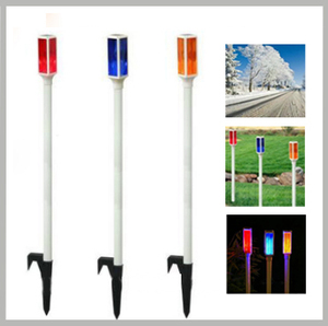 Driveway warning marks road lighting solar sign stake light