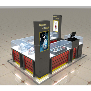 2018 fashion china jewelry kiosk showcase for shopping mall