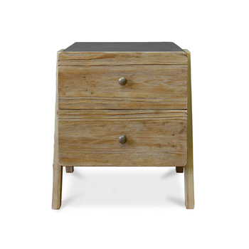 Pastoral LOFT Wooden Bedside Table with Plenty Storage Space