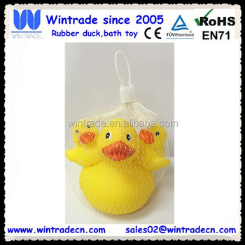 Big Mom Duck And  Small Son Duck Set In Net Bag