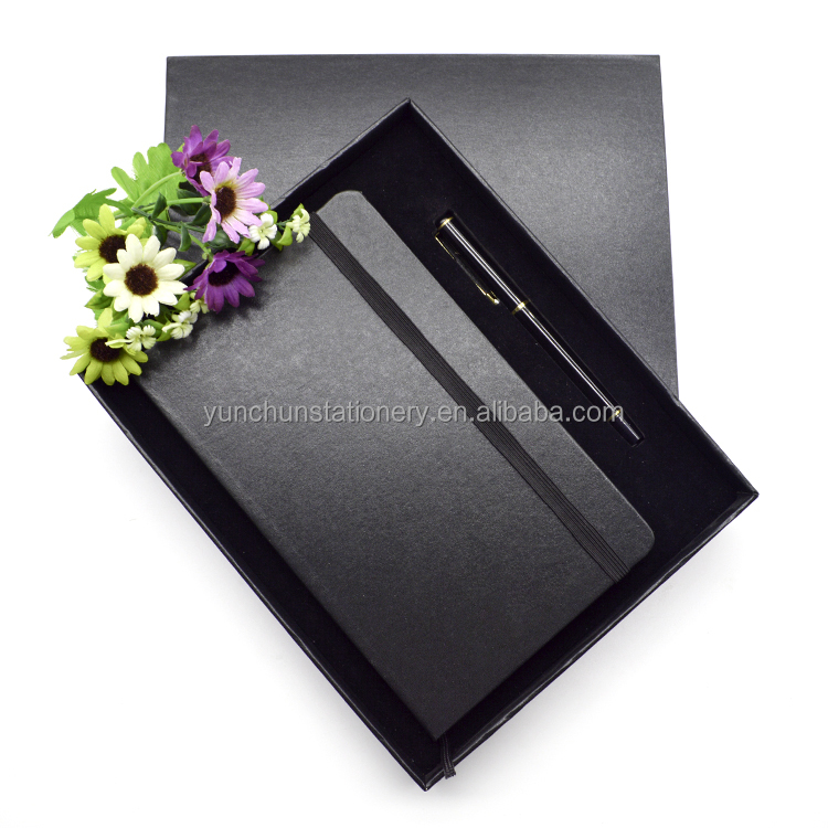 Relatiegeschenk Set Custom Logo Pu Cover Note met Metalen Pen