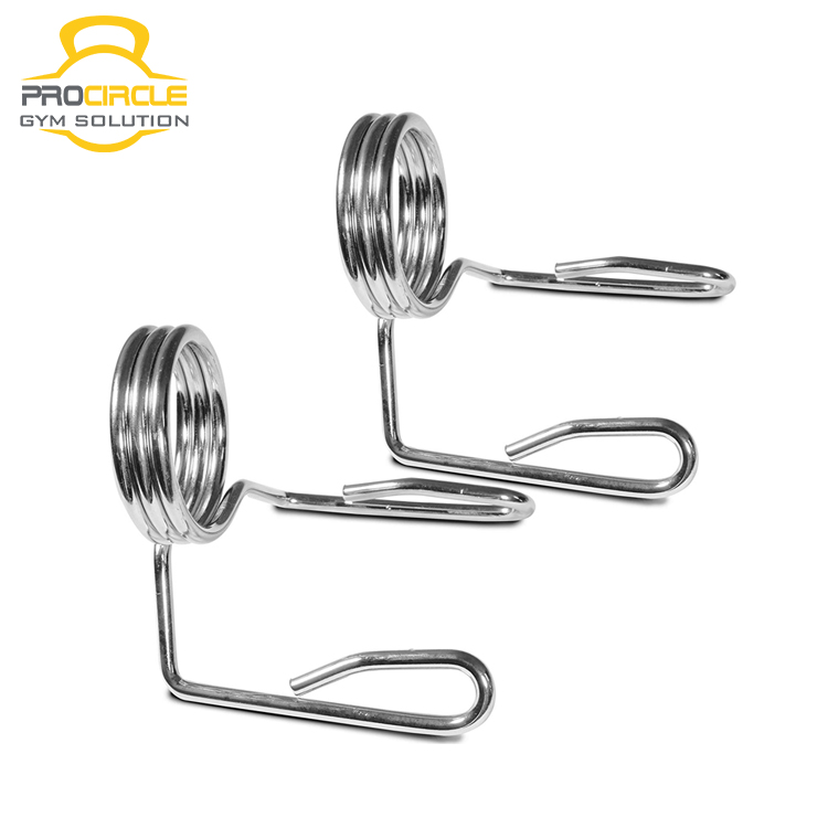 2 Inch Spring Clip Barbell Collar Clamp for Gym Weightlifting Training