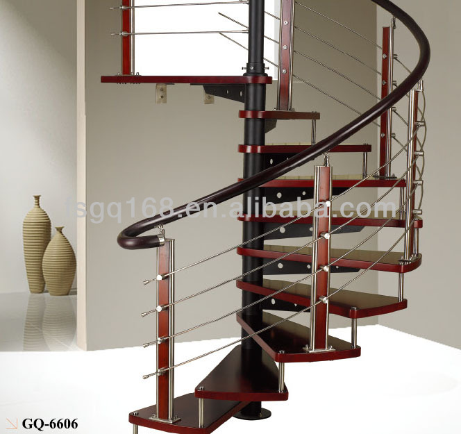 Hot Sell Spiral Stainless Steel Staircase With Many Dimensions