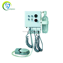 Foshan compass Wall-hang portable dental unit with water bottle and foot control china supplies