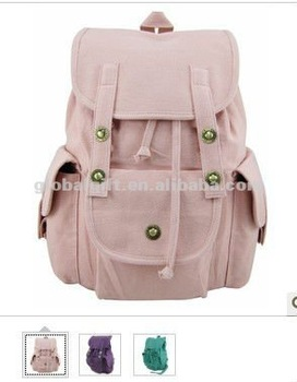 Cute Pink Canvas Backpack