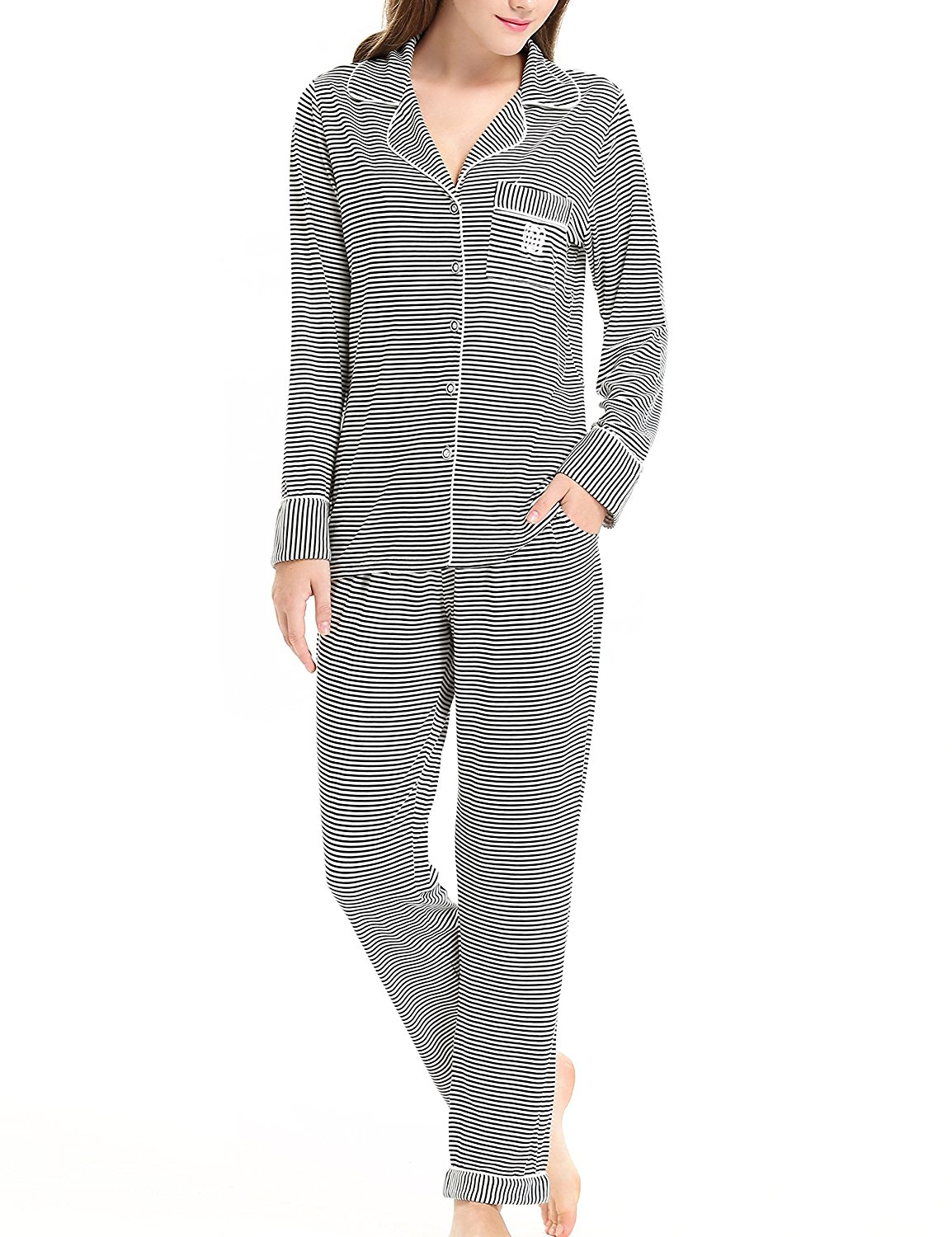 e6ac69b8cd1a Get Quotations · NORA TWIPS Pajamas For Women Sleep Shirt With Pants by  (XS-XL)