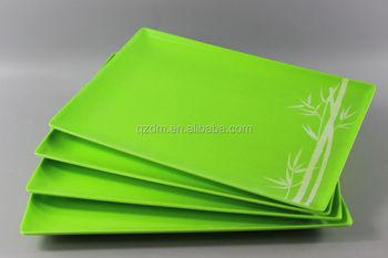 Melamine square dinner plate Plastic Dessert Plate green color & Melamine Square Dinner Plate Plastic Dessert Plate Green Color - Buy ...
