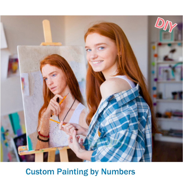 Dropshipping Personality Photo Customized DIY Oil Paint By Number <strong>Picture</strong> Drawing by Numbers Canvas Coloring By Numbers For Gift