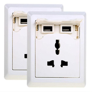 EU-250V USB Charging Wall Socket -European Type,USB Wall Outlet Lets You Charge Devices Via A USB Cable, Directly From The Wall