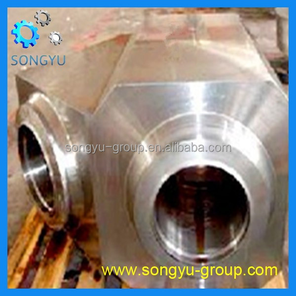 forged alloy steel 20CrNiMoA tee type valve body