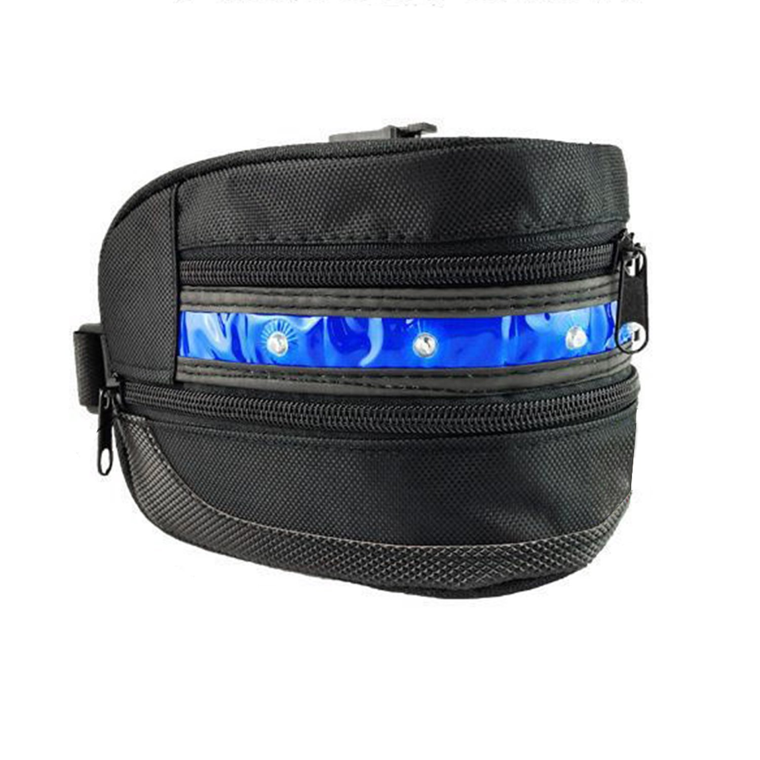 3 Modes LED Bike Saddle Bag/Bike Seat Bag/Seat Packs,ViMall(TM)Super Cool LED Waterproof Bicycle Cycling Bike Rear Seat Bag/Tail Bag/Under-seat Storage for Outdoor Race,Mountain Road Riding