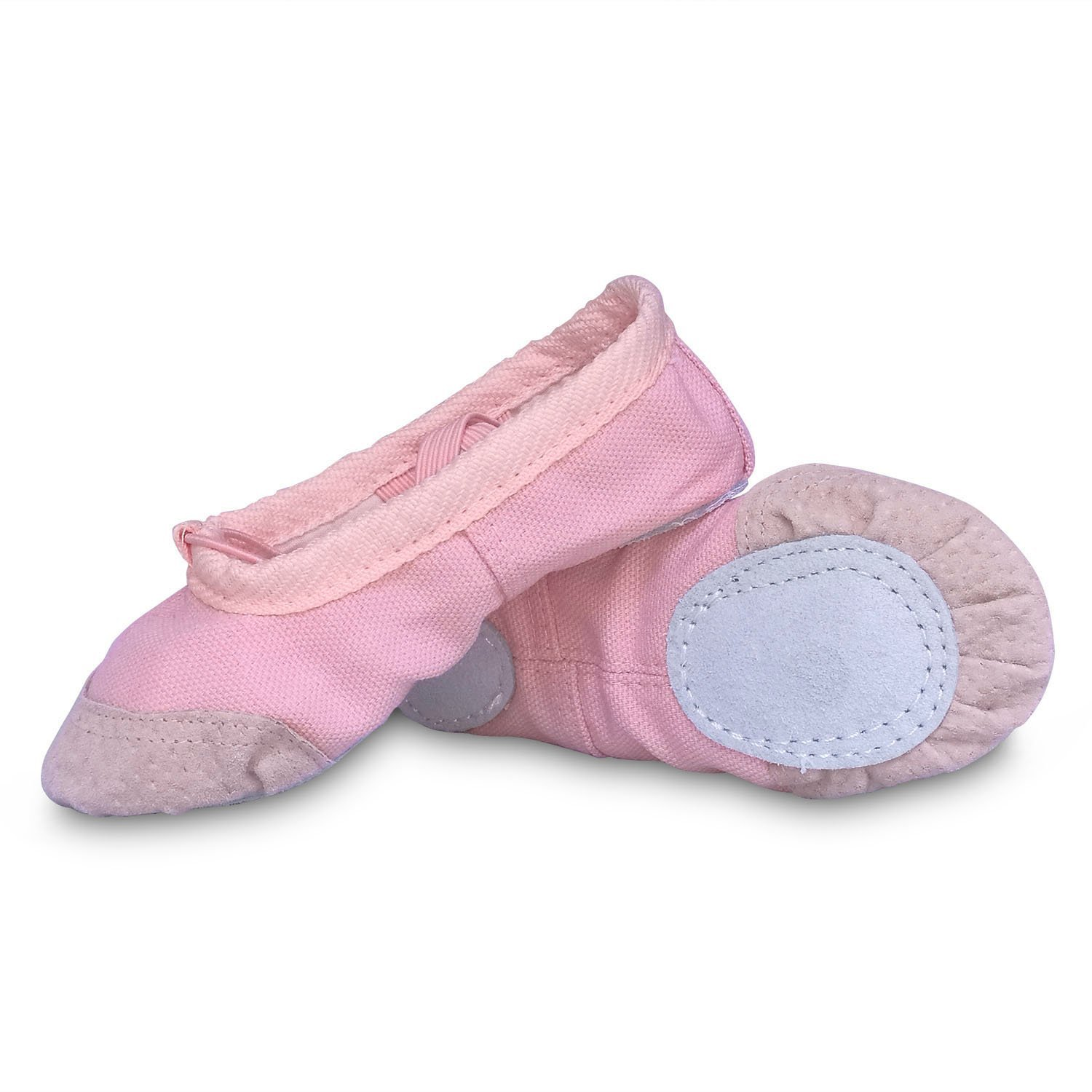 cd47c48a14bc Get Quotations · Ballet Slipper Shoes Pointe Canvas Split Sole Practice Ballet  Dancing Gymnastics Shoes Ballet Flat Slipper Yoga