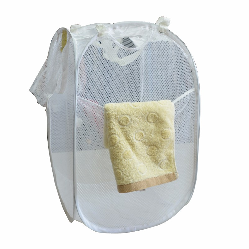 Wholesale Polyester laundry foldable pop-up hamper