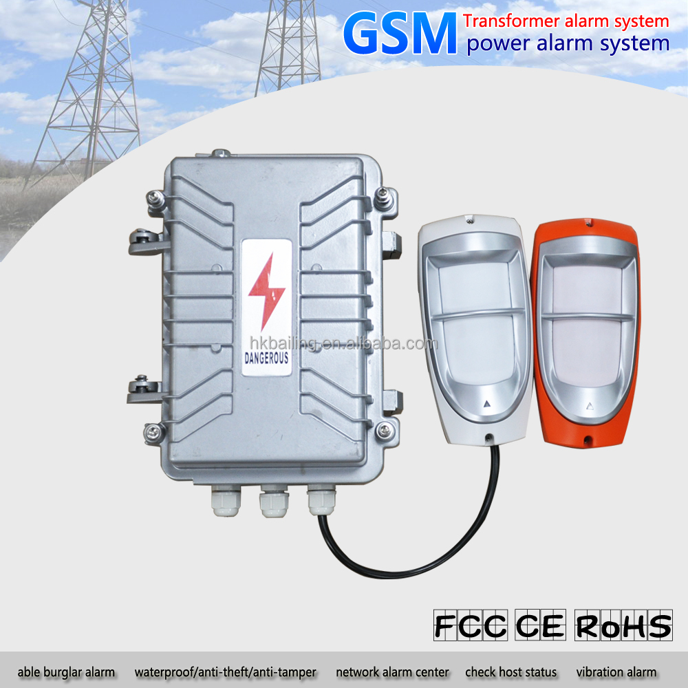 Three phase four line GSM power alarm system gsm sms power monitoring alarm system
