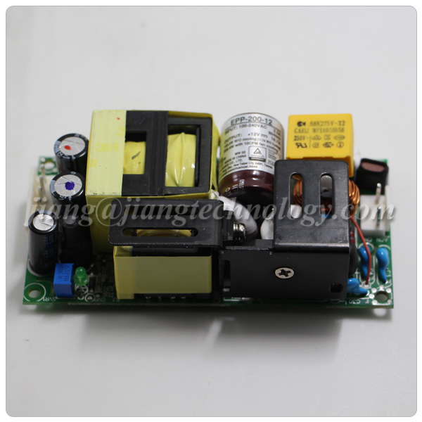 Mean Well EPP-200-24 Power Supply; AC-DC; Single Output: 24V Input: 80~264 VAC 113~370 VDC. 8.4A with Forced air 201.6W; Open Frame