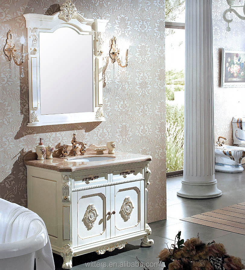 antique blanc victorienne handcarved vanit salle de bain. Black Bedroom Furniture Sets. Home Design Ideas