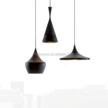 Fashion Coffee Shop Bar Black Horn Light Pendant Lamp