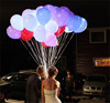 Flash Illuminated LED Balloon Love Glow In The Dark Sky Lanterns Happy Birthday Weeding Decoration Party Balloons