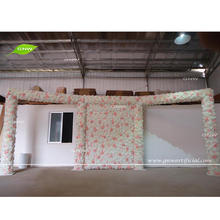 GNW FLWA1707007-1 New design pink and white wedding floral stage entrance decoration