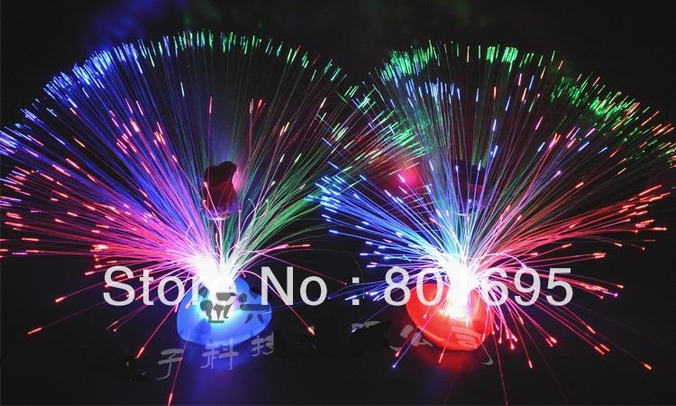 Free Fedex Shipping 33cm Christmas Fiber Optic Light Tree