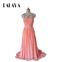 2018 New Arrival Long Prom Dresses Sexy Pink Evening Gowns