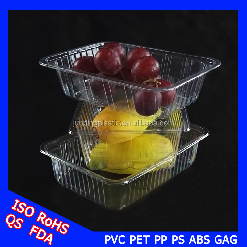 diaphanous clear printed mango fruit plastic packaging boxes