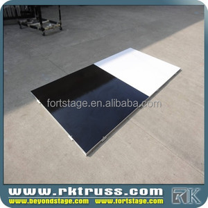 black and white tile dance floor with resonable price
