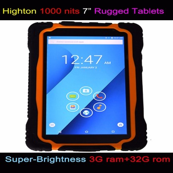 Highton 7 Inch Rugged Tablets Android Os 4g Network 5 0m 13 Camera Industry
